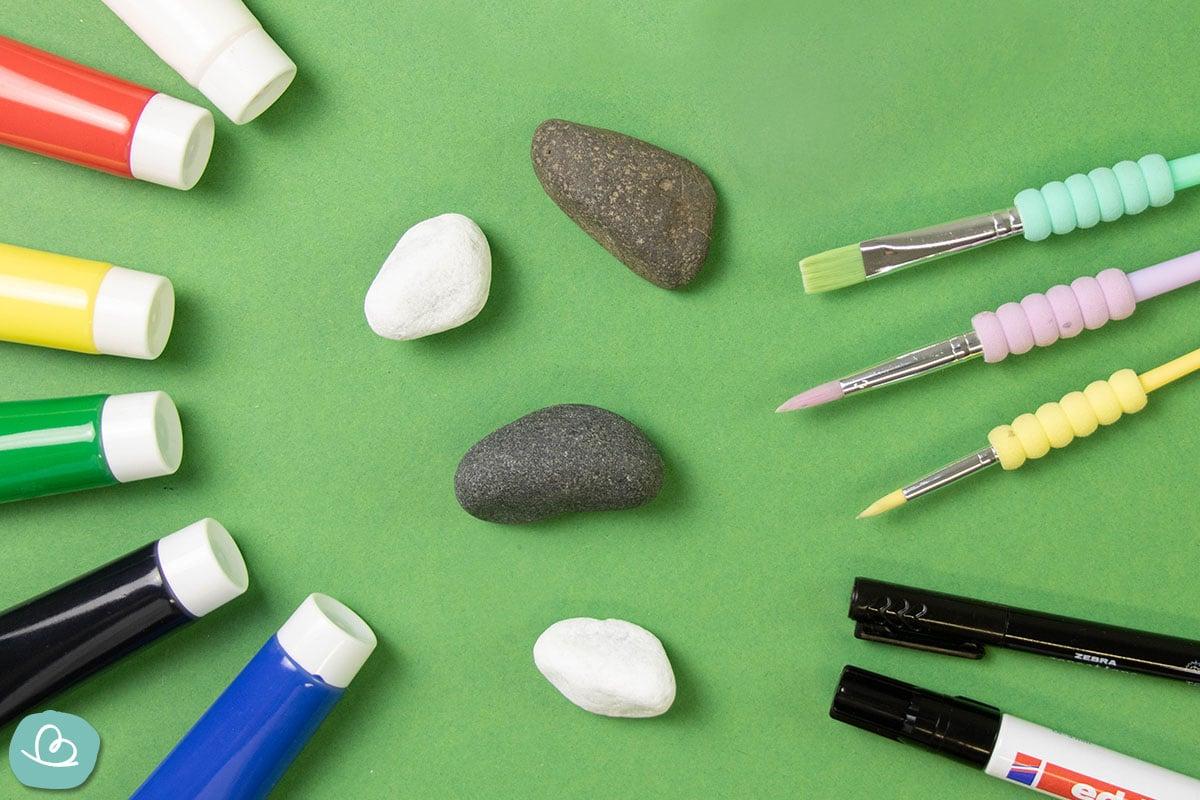 Material Steine bemalen Kerze