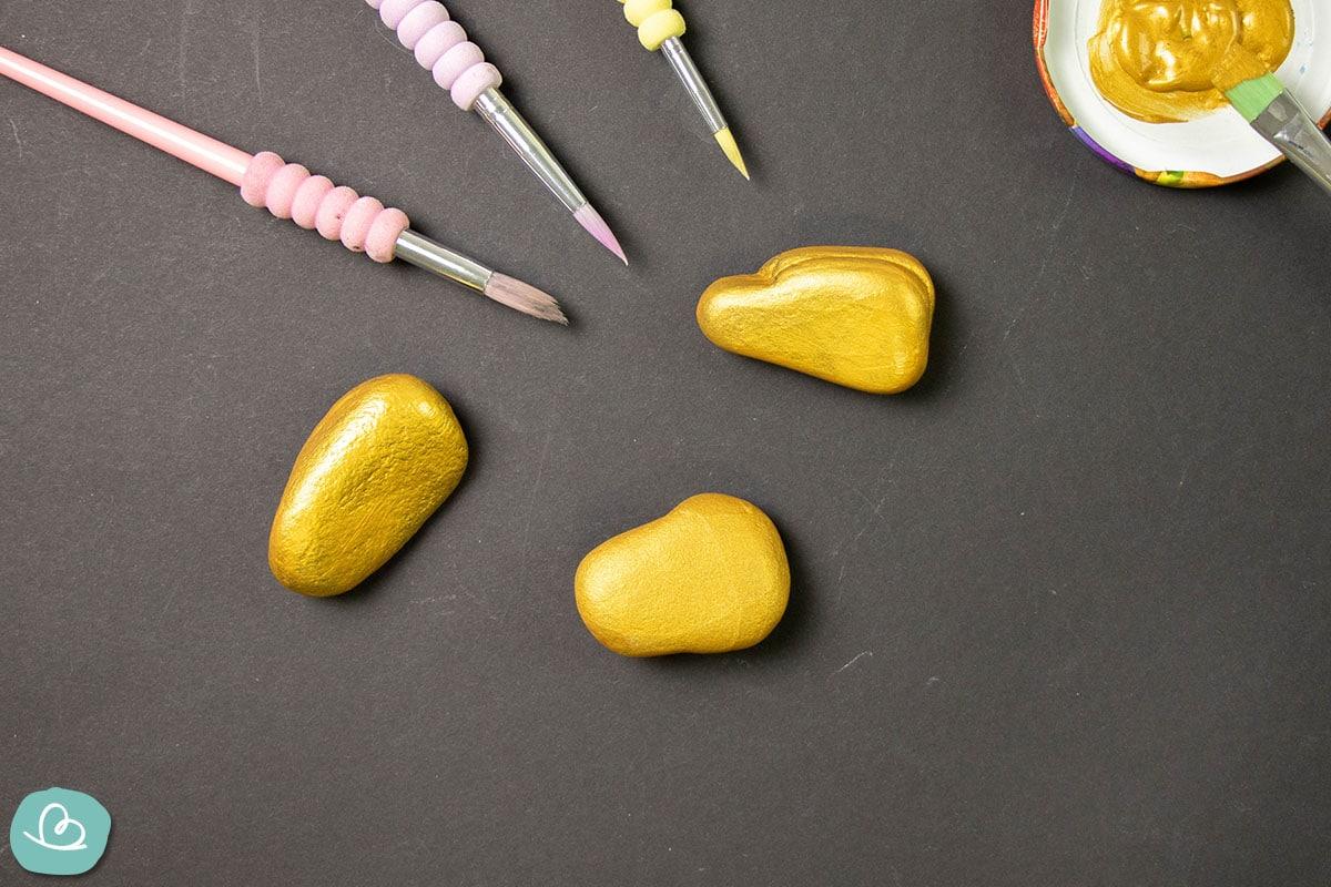 goldene Steine