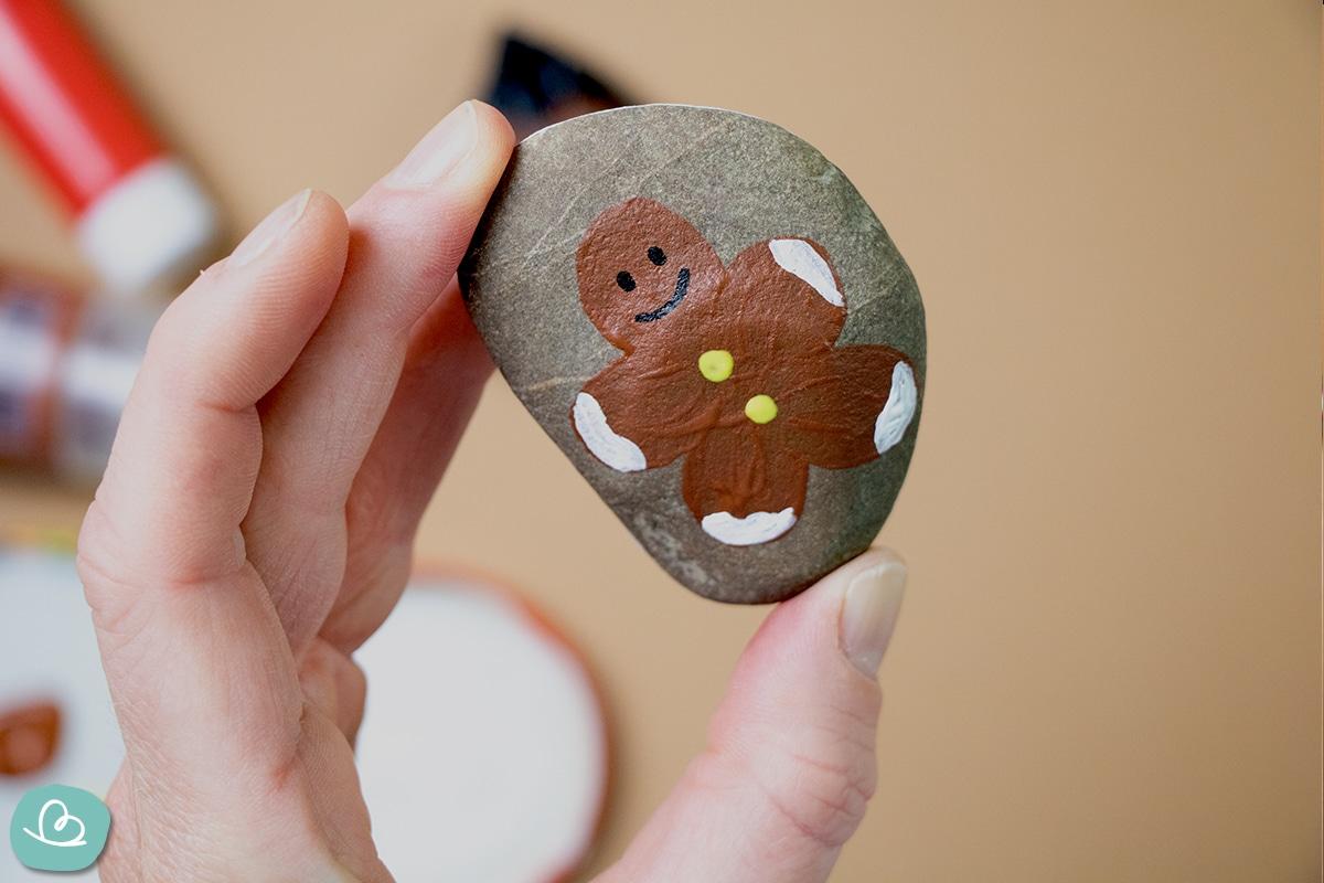 Lebkuchen Motiv auf einen Stein malen
