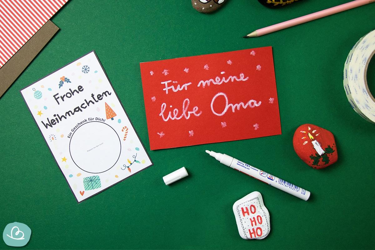 Weihnachtskarte beschriften