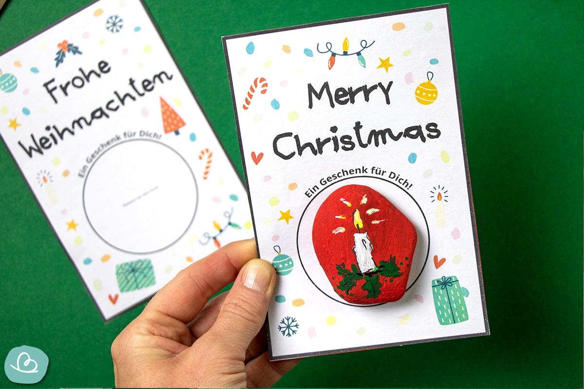 Steinkarte für Weihnachten