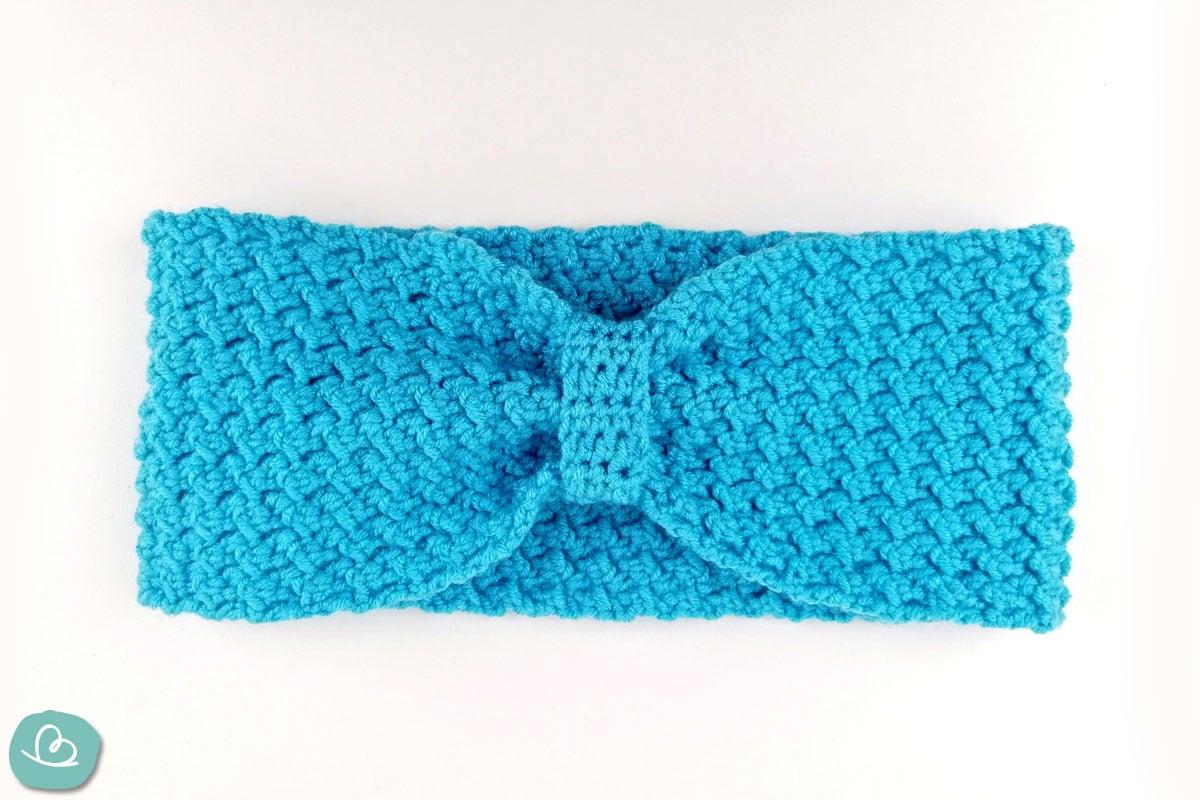 blaues Stirnband