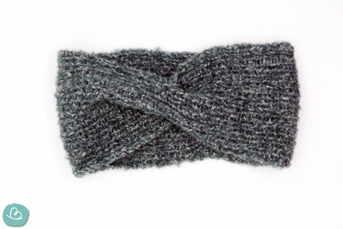 Twist-Stirnband gestrickt