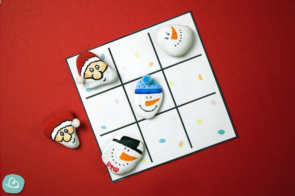Tic Tac Toe Spiel für Weihnachten